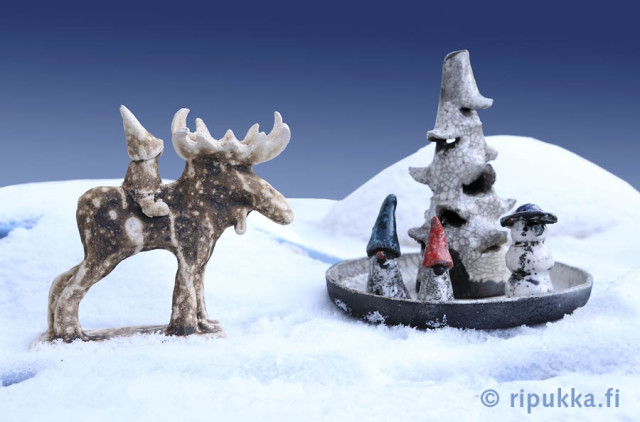 Ripukka-keramiikan joulumyynti 2013